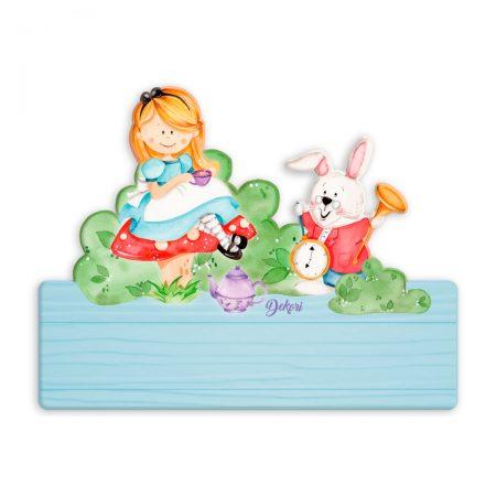 placuta personalizata nume alice, placuta personalizata, placuta nume, Alice in Tara Minunilor