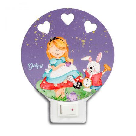 lampa de veghe Alice, Alice in tara minunilor, lampa de veghe