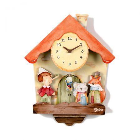 ceas Pinocchio 3D, ceas pinocchio, pinocchio, ceas 3D, ceas copii