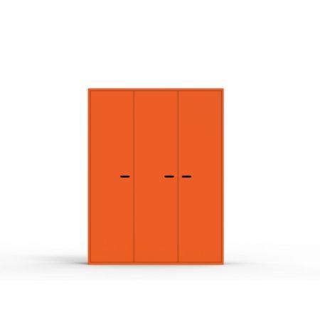 dulap, dulap trei usi, dulap copii, dulap portocaliu, dulap colorat, dulap copii