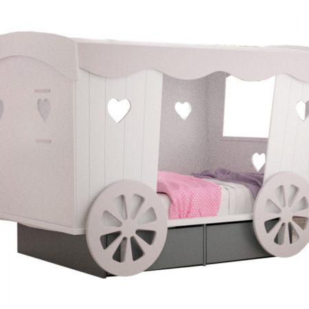 pat trasura, trasura, pat copii, pat fetite