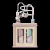 centru activitati roz lemn little dutch, centru activitati lemn, centru activitati roz, little dutch, centru activitati cub