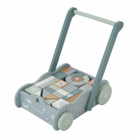 antepremergator lemn little dutch, antepremergator albastru, little dutch, spatiu depozitare, cuburi, cuburi lemn, cuburi albastre
