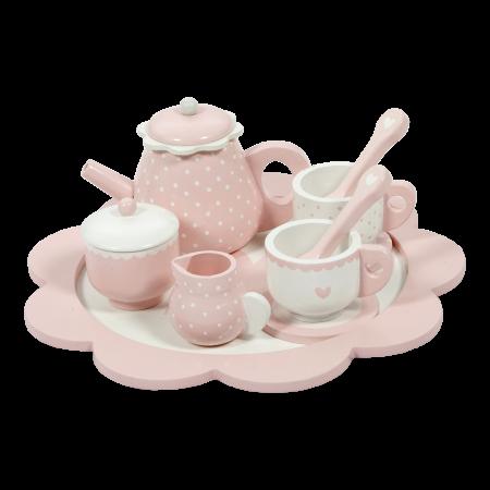 set ceai roz lemn little dutch, little dutch, set ceai roz, roz, jucarii lemn