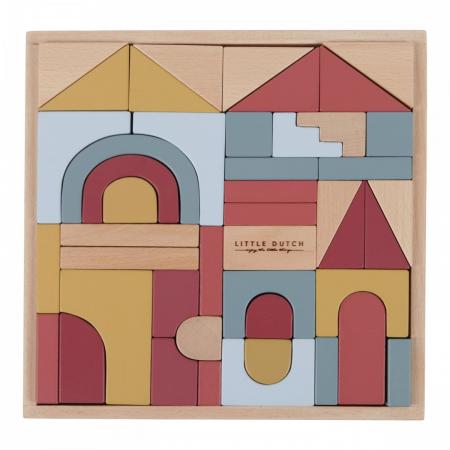 cuburi constructie little dutch, cuburi lemn little dutch, forme geometrice, little dutcg, jucarii lemn, jucarii little dutch