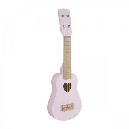 instrument muzical little dutch, chitala lemn little dutch, little dutch, jucarie little dutch, chitara lemn, chitara roz