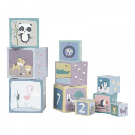 jucarie stivuire little dutch, jucarie stivuire zoo, jucarie stivuire, little dutch, cuburi numere, cuburi animale, cuburi stivuire, cutii stivuire, stivuire