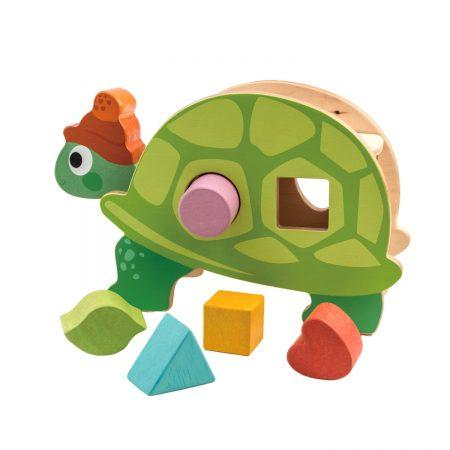 broasca lemn, broasca testoasa lemn, jucarie lemn, tender leaf toys