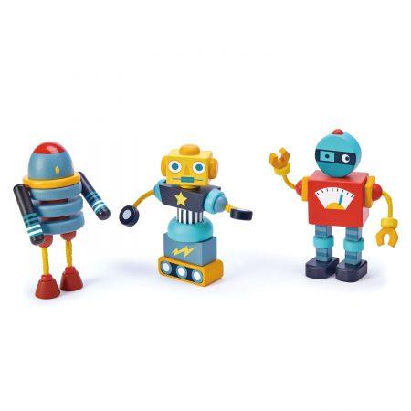 robot lemn, roboti lemn, jucarie lemn, jucarii lemn, tender leaf toys, figurine lemn, figurine roboti, figurina robot