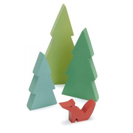 conifere lemn, brazi lemn, brazi, tender leaf toys, jucarii tender leaf,